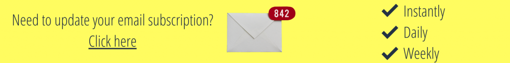 Need to update your email subscription? Click here.